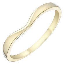 Ladies' 9ct Gold Plain Curved Band - Product number 4397894