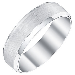 Men's Palladium 950 6mm Bevelled Edge Band - Product number 4398084
