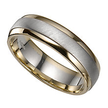 Groom's 9ct Two Colour Gold Ring - Product number 4399110