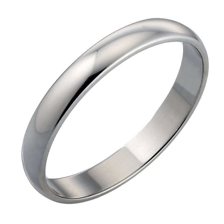 18ct White Gold  Plain Wedding 3mm Ring - Product number 4399285
