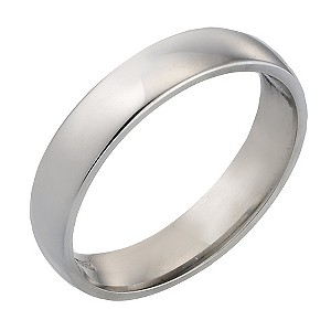18ct White Gold Extra Heavy Weight Wedding 4mm Ring