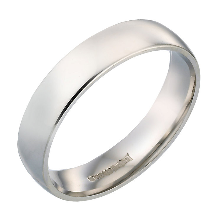 18ct White Gold 5mm Extra Heavy Weight Wedding Band - Product number 4399536