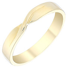 Ladies' 9ct Gold Plain Twist Band - Product number 4400801