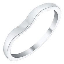 Ladies' 9ct White Gold Plain Shaped Band - Product number 4401239