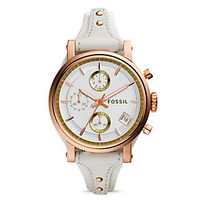 Fossil Original Boyfriend Ladies' Rose Gold Tone Strap Watch - Product number 4401719