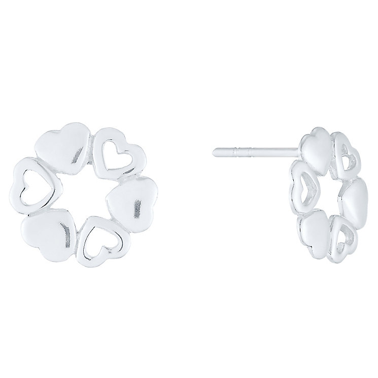 Sterling Silver Multi Heart Stud Earrings - Product number 4403274