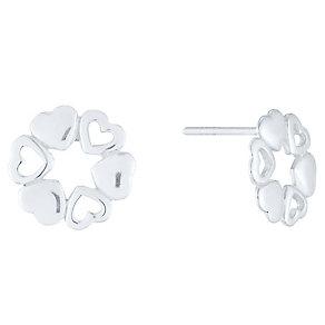 Sterling Silver Multi Heart Stud Earrings - Product number 4403274