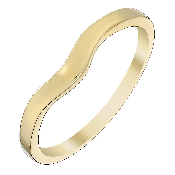 9ct Yellow Gold Plain Shaped Wedding Band - Product number 4403436