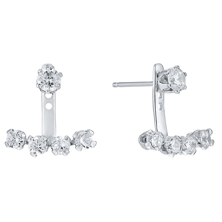 Sterling Silver Cubic Zirconia Swing Ear Jackets - Product number 4405293