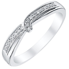 Ladies' Palladium Diamond Set Wrap Over Band - Product number 4407202