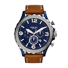Fossil Nate Men's Stainless Steel Strap Watch - Product number 4410521