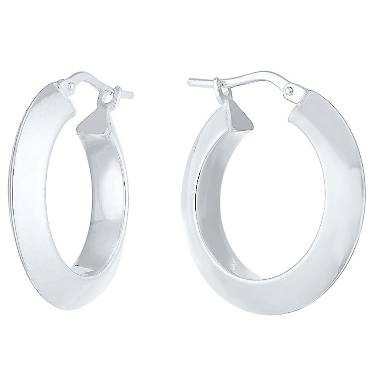 Sterling Silver Ridged Creole Earrings - Product number 4410580