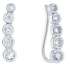 Sterling Silver 5 Stone Cubic Zirconia Ear Climber - Product number 4410661