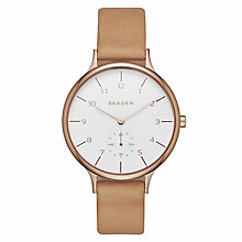 Skagen Anita Ladies' Rose Gold Tone Strap Watch - Product number 4411064