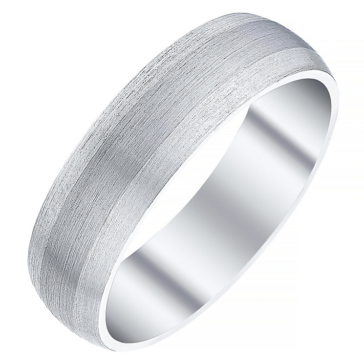 Men's Argentium Silver & Palladium 6mm Court Band - Product number 4411072