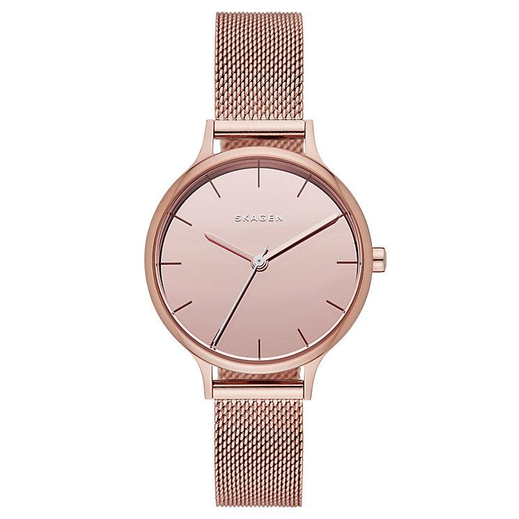 Skagen Anita Ladies' Rose Gold Tone Bracelet Watch - Product number 4411242