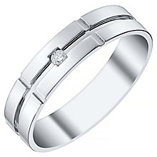 Men's Palladium 950 Single Diamond Set Band - Product number 4411250