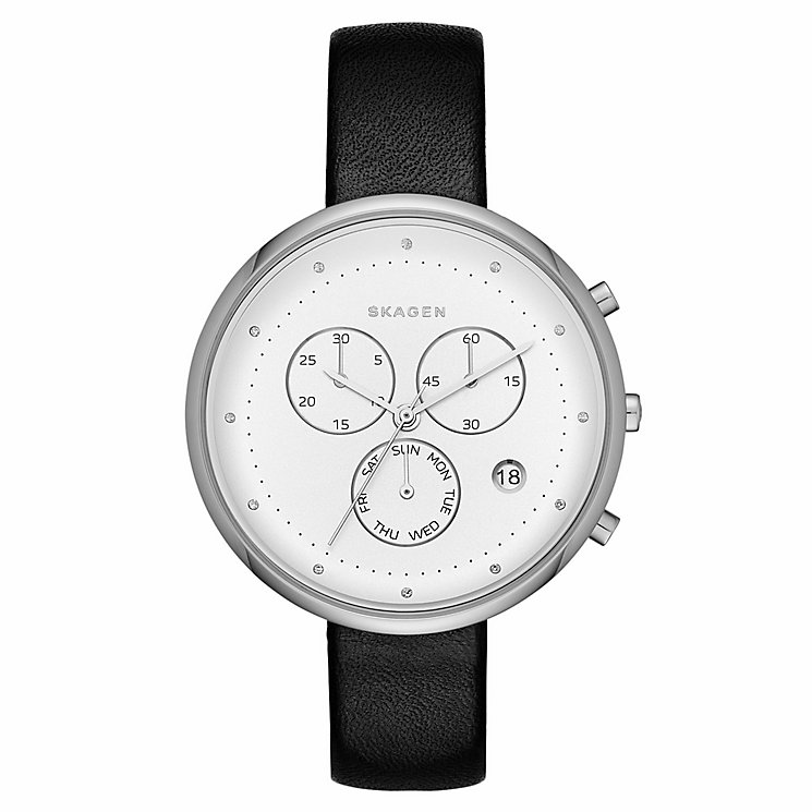 Skagen Ladies' Stainless Steel Silver Dial Strap Watch - Product number 4411897
