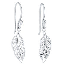 Sterling Silver Leaf Drop Earrings - Product number 4413555