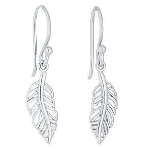 Sterling Silver Leaf Drop Earrings - Product number 4413555