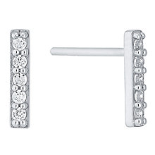 Sterling Silver Cubic Zirconia Set Long Stud Earrings - Product number 4413601