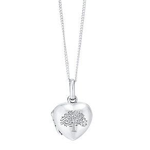Sterling Silver Tree Of Life Heart Locket - Product number 4415124