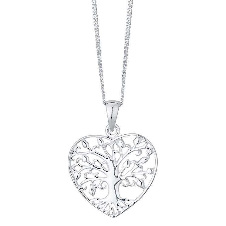 Sterling Silver Large Tree Of Life Heart Pendant - Product number 4416317