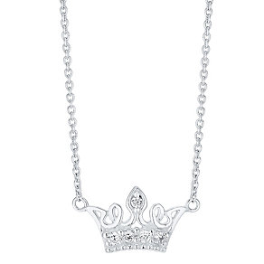 Sterling Silver Stone Set Crown Pendant - Product number 4417259
