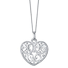 Sterling Silver Cut Out Heart Pendant - Product number 4417801