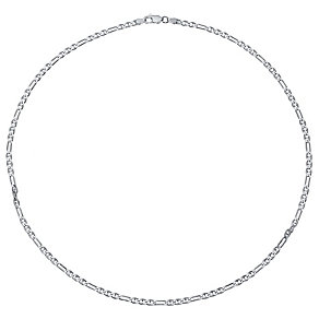 Sterling Silver Figaro Chain Necklace - Product number 4417992