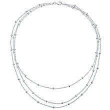 Sterling Silver 3 Strand Necklace - Product number 4418018