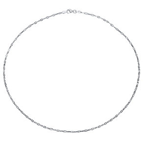Sterling Silver Fancy Link Necklace - Product number 4418042