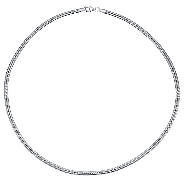 Sterling Silver Flat Snake Chain Necklace - Product number 4419219