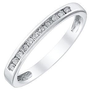 Ladies' Platinum 0.15 Carat Diamond Channel Set Band - Product number 4419472