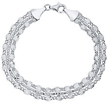 Sterling Silver Fancy 3 Strand Bracelet - Product number 4419952