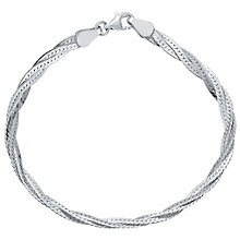 Sterling Silver Herringbone Bracelet - Product number 4419960