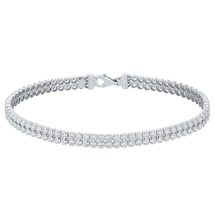Rhodium-plated Cubic Zirconia Tennis Bracelet - Product number 4420071