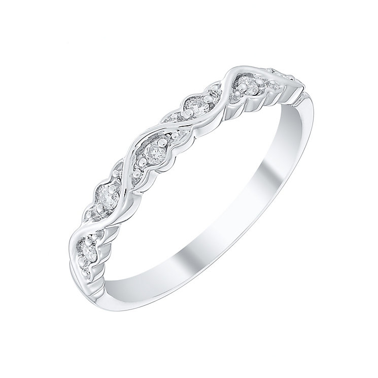 Ladies' 9ct White Gold Diamond Set Band - Product number 4420128