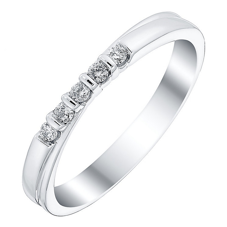 18ct White Gold Diamond Crossover Band - Product number 4420519