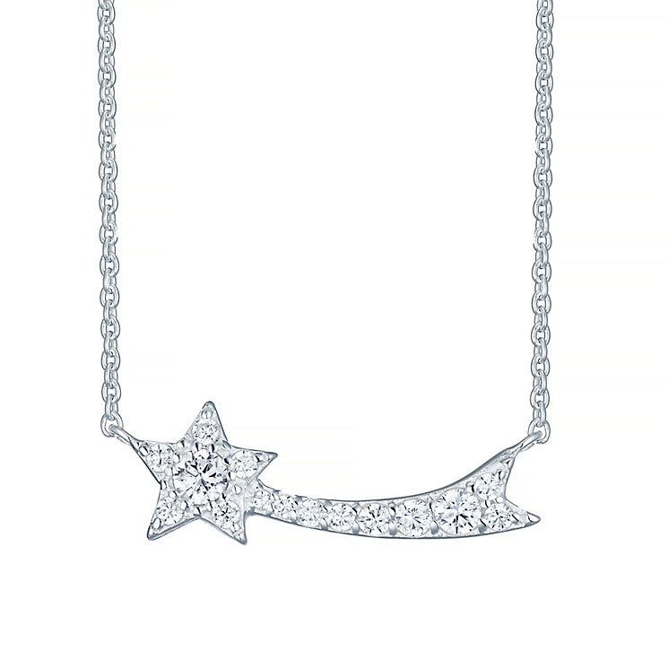 Just to Say Shooting Star Cubic Zirconia Pendant Boxed - Product number 4421248