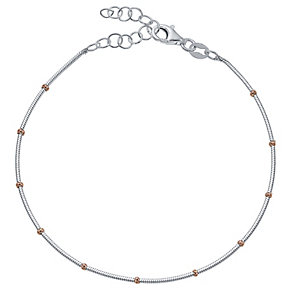 Sterling Silver & Rose Gold-Plated Ball Bracelet - Product number 4422023