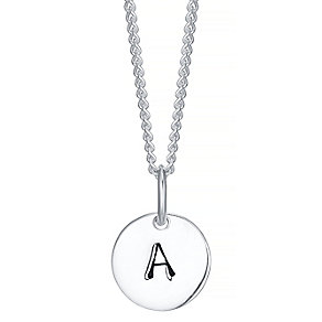 Sterling Silver Small Initial A Disc Pendant - Product number 4422120