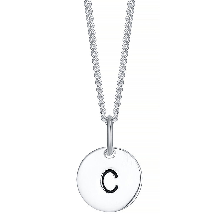 Sterling Silver Small Initial C Disc Pendant - Product number 4422147