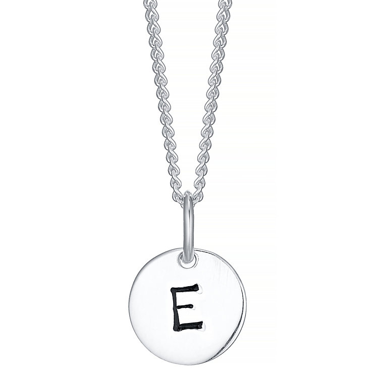 Sterling Silver Small Initial E Disc Pendant - Product number 4422171