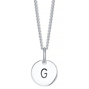 Sterling Silver Small Initial G Disc Pendant - Product number 4422201
