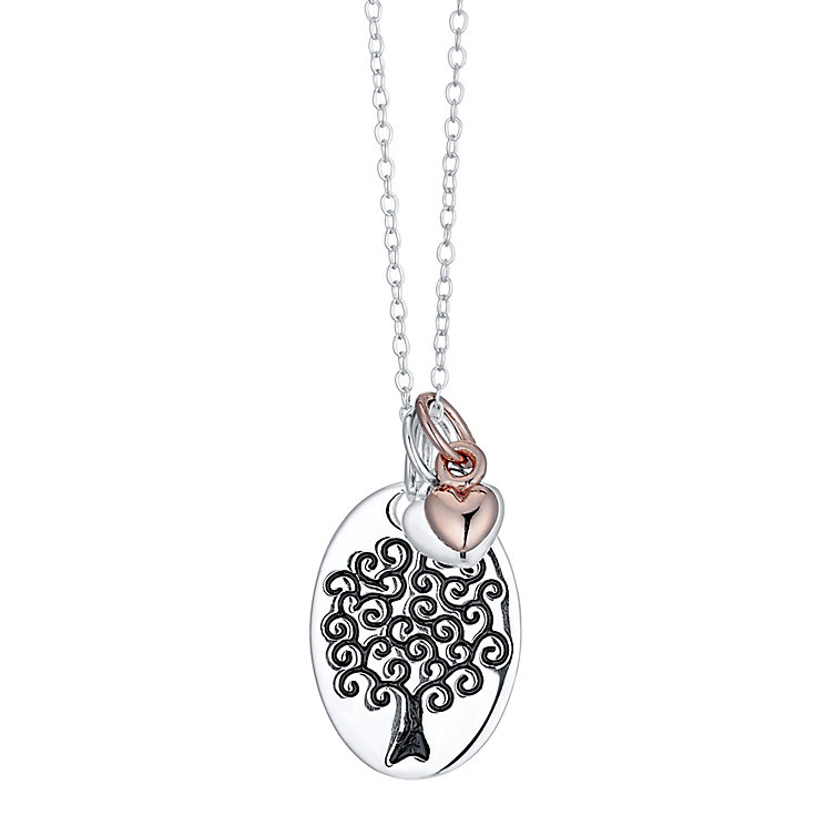 Sterling Silver & Rose Gold-Plated Tree Of Life Pendant - Product number 4422767