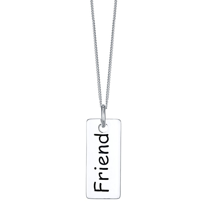 Sterling Silver Friend Small Dog Tag - Product number 4423836