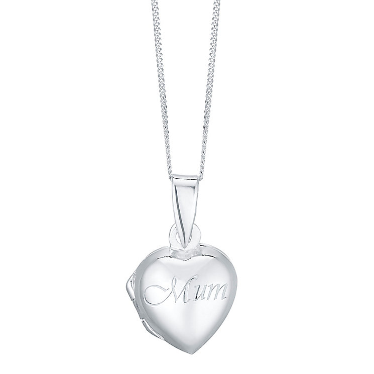 Sterling Silver Mum Locket - Product number 4423860