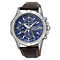 Seiko Solar Men's Chronograph Brown Leather Strap Watch - Product number 4423895