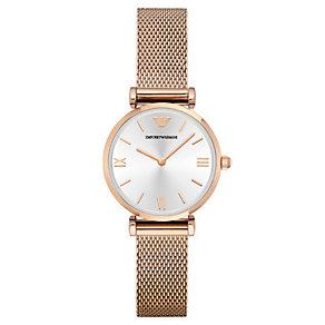 Emporio Armani Ladies' Rose Gold Tone Bracelet Watch - Product number 4424093